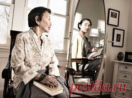 Галерея: Зеркало все помнит  Трагедия старости не в том, что человек стареет, а в том, что он душой остается молодым» Оскар Уайльд Фотограф Том Хасси из Далласа создал трогающую за живое фотосерию, в которой пожилые люди смотрят на себя в зеркало и видят в отражении себя в молодости.
