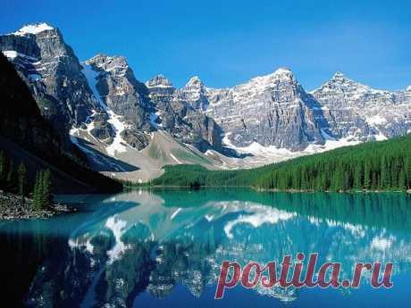 Озеро Морейн – одно из самых живописных горных озер Канады - Путешествуем вместе