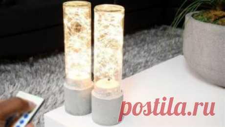 Светодиодные светильники из бетона и стекла своими руками — ОчУмелые ручки