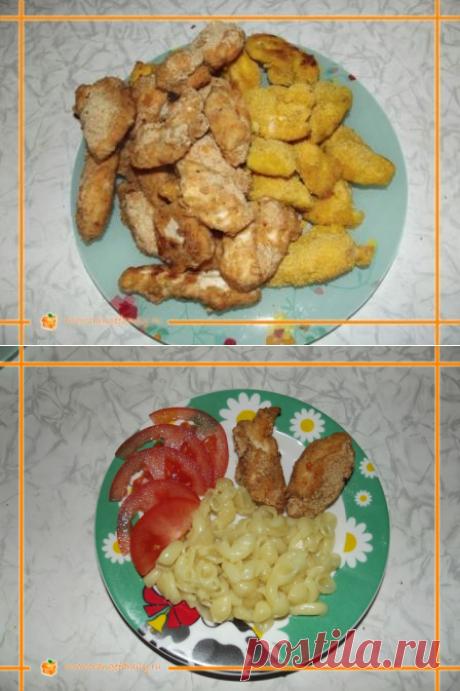 El filete cocido de gallina empanado   Orangefamily.ru