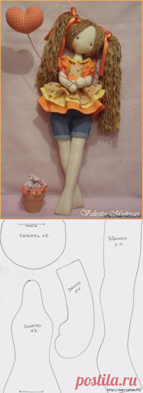 Кукла Linda от Valeska Solar. Выкройка