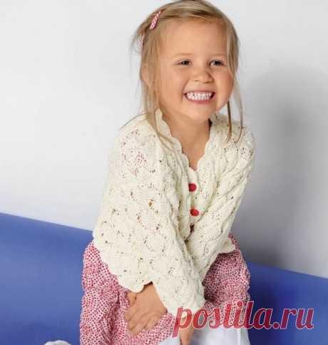 Вяжем красивую ажурную кофточку для девочки!   Dublog   Яндекс Дзен