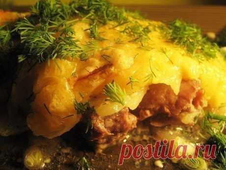 Как приготовить картофельно-мясная запеканка - рецепт, ингредиенты и фотографии