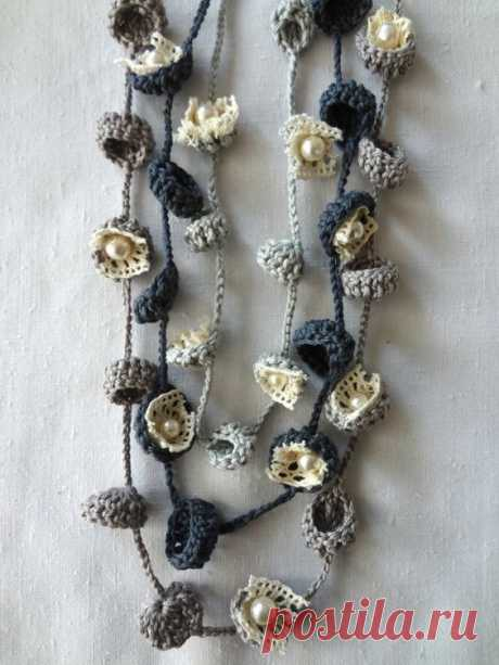CROCHET PATTERN Bohemian Bells Necklaces,crochet necklace, flower necklace,bells,gradient necklace,D