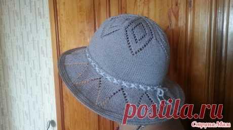 Женская шляпа спицами - Вязание - Страна Мам