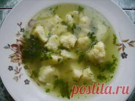 Очень простой суп с манными клецками | Блог Лены Радовой