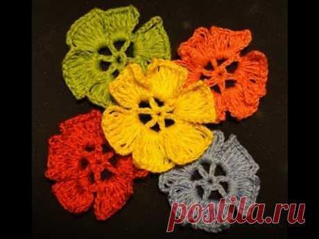 Flower the extended columns Knitting by CROCHET FLOWER hook