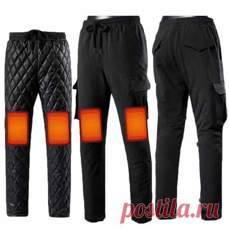 Tengoo 3-gears control men's smart usb heating trousers thermal underwear usb heated pants for winter camping hiking supplies Sale - Banggood.com