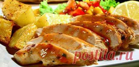 Сладко-соленая медовая индейка / Простые рецепты