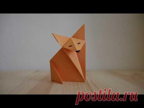 Оригами. Как сделать лису из бумаги (видео урок) - YouTube