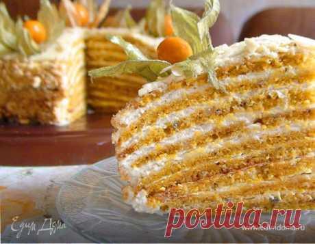 Тыквенный торт с апельсином и орехами под белым шоколадом, пошаговый рецепт, фото, ингредиенты - Валерия