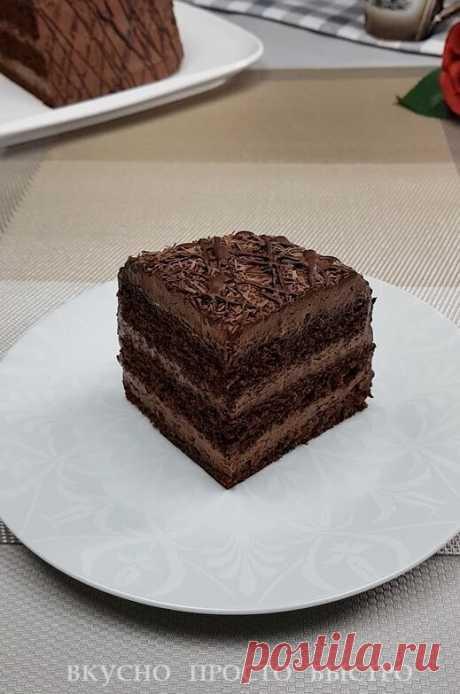 Шоколадный крем из 3 ингредиентов. 10 минут и очень вкусный крем для тортов, эклеров, пирожных готов | Вкусно Просто Быстро | Яндекс Дзен