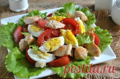 Салат Цезарь с курицей и сухариками - пошаговый рецепт с фото на Повар.ру