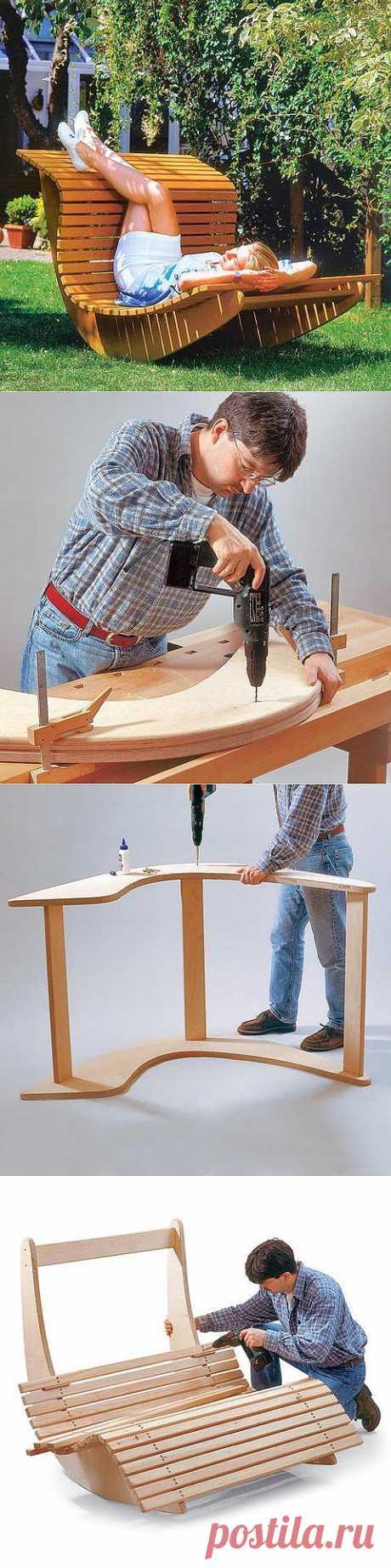 Интерьер, строительство, ремонт: Кресло-качалка для сада своими руками