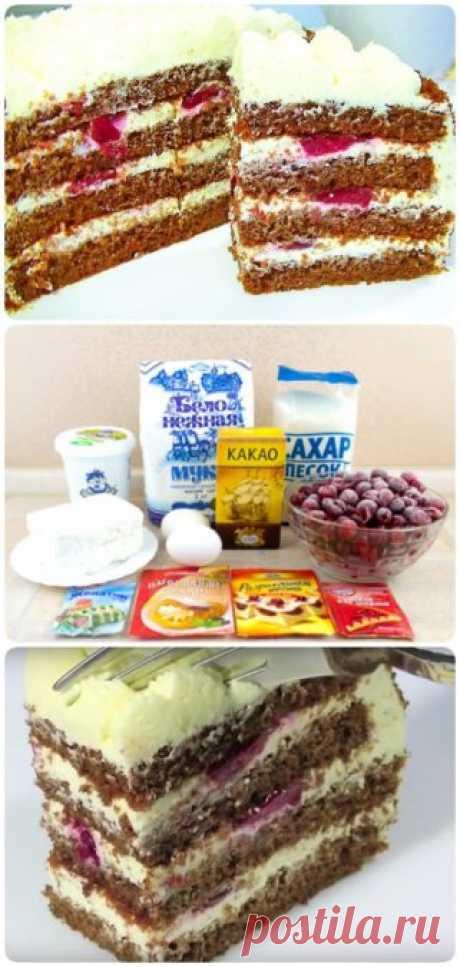 Творожный торт за 30 минут