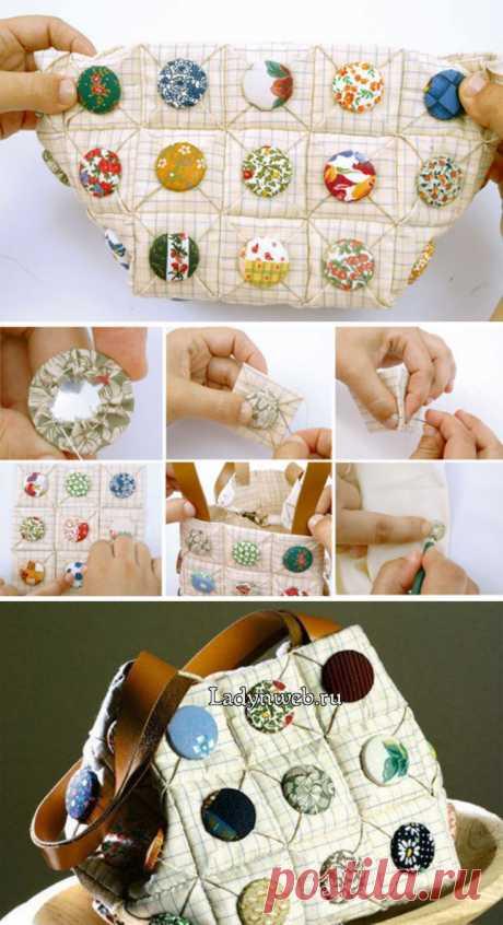 Как сшить сумку из квадратов с пуговицами мастер класс   Ladynweb.ru
