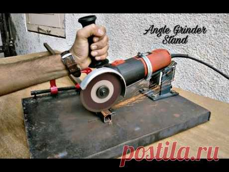 Homemade Angle Grinder Stand \/ Angle Grinder Support.