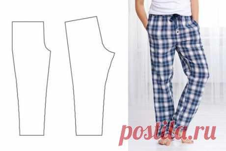 Скачать выкройку Пижамные штаны мужские и женские (размер 44-60) в PDF бесплатно Выкройка Пижамные штаны мужские и женские (размер 44-60) в ПДФ, скачайте пошаговую инструкцию бесплатно, сшить Пижамные штаны мужские и женские (размер 44-60) своими руками.