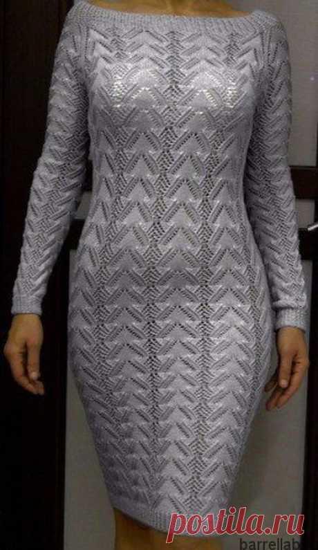 Летнее платье с сердечками спицами. Красивое женское платье спицами | Домоводство для всей семьи