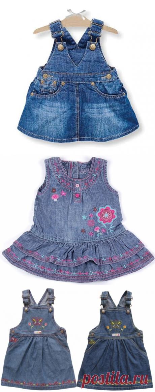 We sew for children. Jeans sundresses. Ideas.