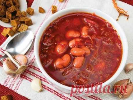 Постный борщ с фасолью - рецепт с фото / Простые рецепты