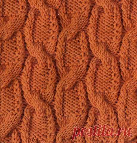 Узор косы спицами Павлинье перо 75 — Shpulya.com - схемы с описанием для вязания спицами и крючком