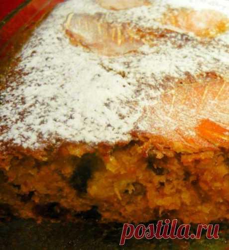 Апельсиново-морковный кекс для дней сухоядения