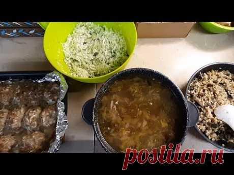 #Еда_диабетика_тип2. Суп с консервами, котлеты, грибы с булгуром, салат