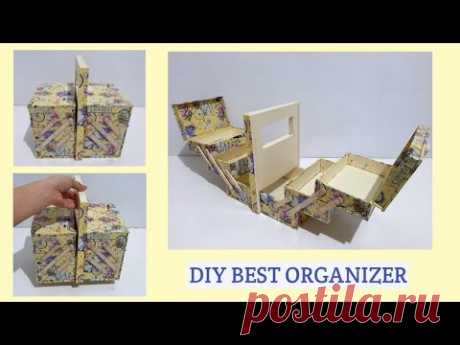 DIY BEST ORGANIZER BOX MOVING MECHANISM FROM CARDBOARD