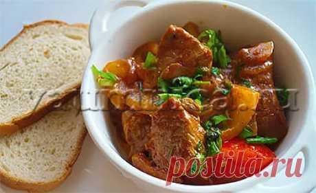 Вкусное грузинское блюдо из мяса и овощей – пошаговый фото рецепт