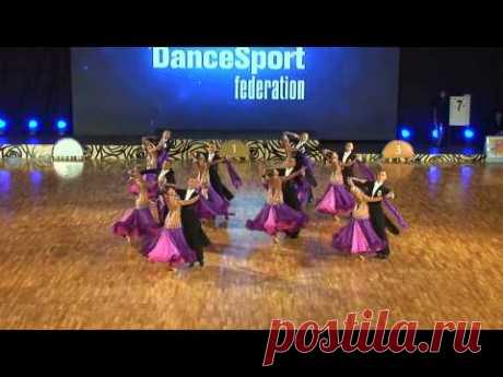 """Vera"" (Tyumen, Russia) at WDSF World DanceSport Championship Formation Standard (1 place)"