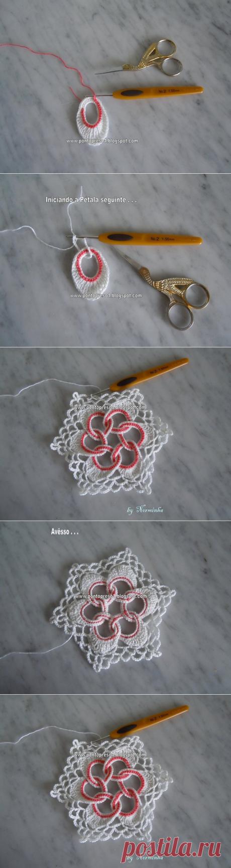 Вязание крючком. Очень красивый элемент крючком. Мастер-класс. | razpetelka.ru