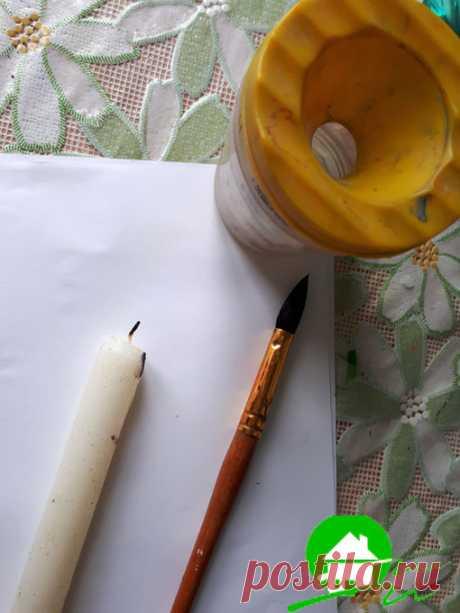 Рисунки свечкой и акварельными красками на тему осень.