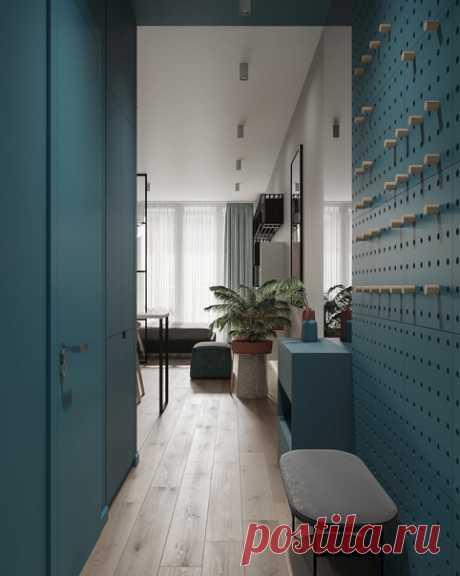 Дизайн : Roman Re Как же я люблю, когда из студии могут сделать полноценное прекрасное жилье с кухней, гостиной и спальней.