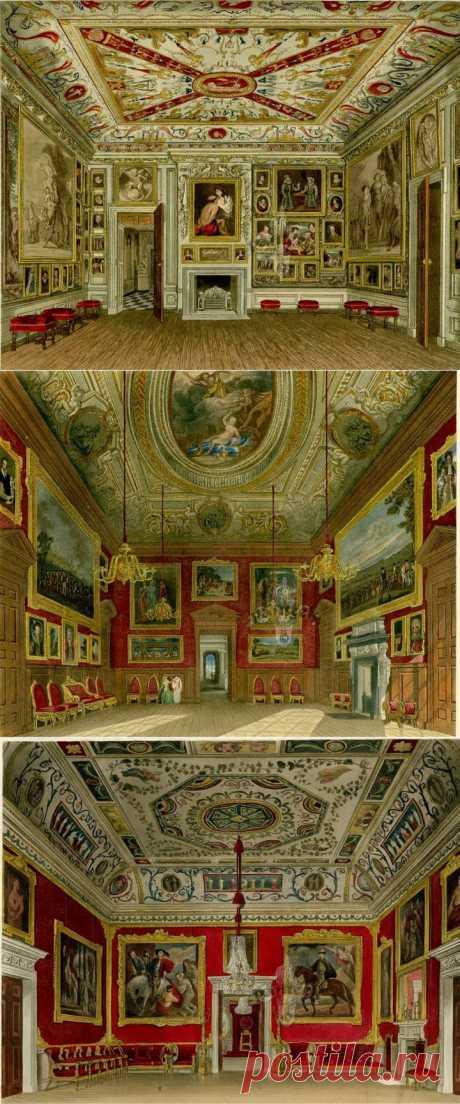 (+1) тема - Акварельные интерьеры Виндзорского замка и Дворца Кесингтон в гравюрах 19 века... | Искусство