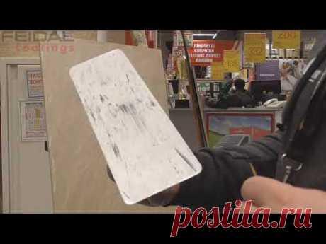 Поэтапное нанесение декоративной краски Feidal Velvet  в технике 1000 линий! Как сделать самому!