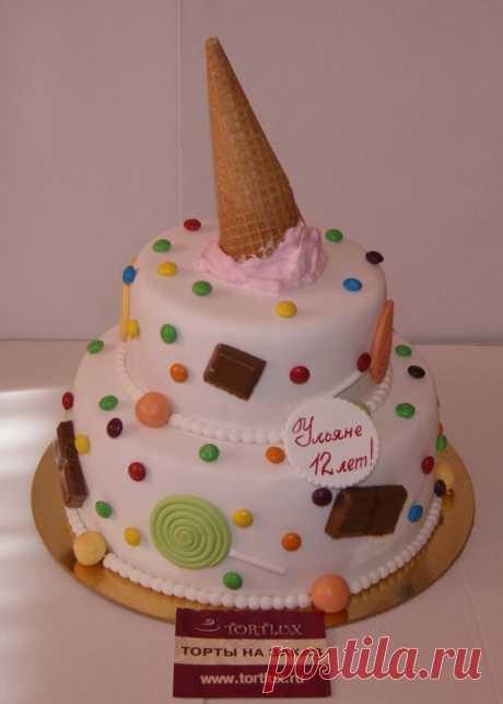 """Детский торт """"Рожок"""".Вес 5 кг."""
