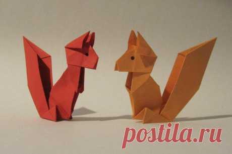 Оригами животные: простые схемы для детей и начинающих мастеров с фото и пошаговой инструкцией