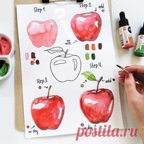 Рисуем с детьми фрукты и ягоды — Поделки с детьми