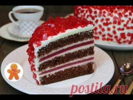 """La torta \""""De rubí\"""" muy impresionante, original y sabroso ✧ \""""Ruby Emerald\"""" Cake (English Subtitles)"""