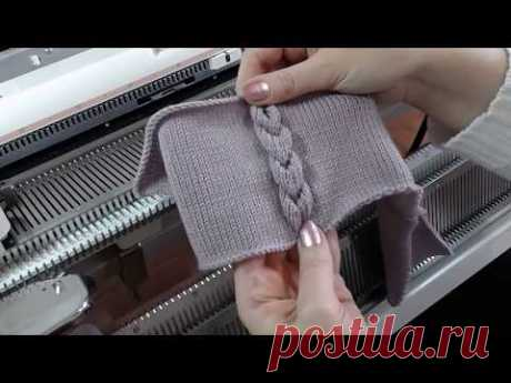 sewing together by knitting car a braid