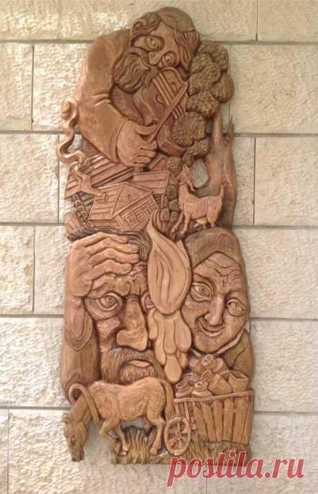 Еврейское местечко 124x52  Автор: Леонид Окунь