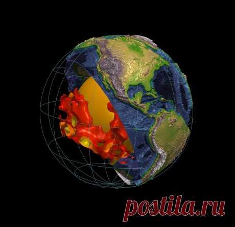 Ученые: земную мантию пронзают таинственные структуры размером с континент — Naked Science Примерно на полпути от ваших стоп к центру Земли две горы из горячей сжатой породы пронзают внутренности планеты — каждая размером с континент. Ученым практически ничего о них не известно.