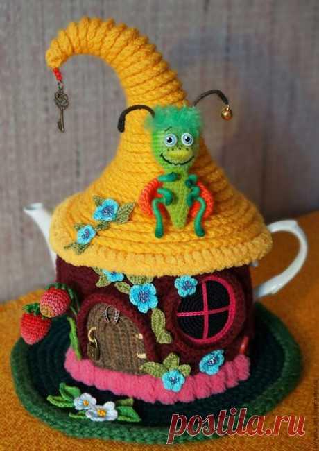 Вязаные грелки на чайник - как из сказки | razpetelka.ru