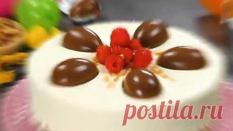 Простой и очень вкусный торт с классным декором.