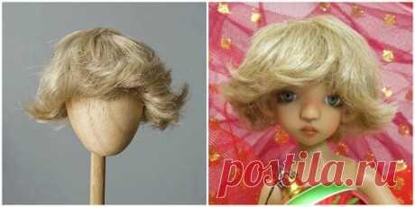 Kids-Price.Ru - Как сделать парик для куклы. Часть 2