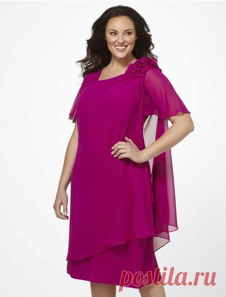Фасоны платьев для полных женщин: фото моделей, которые стройнят