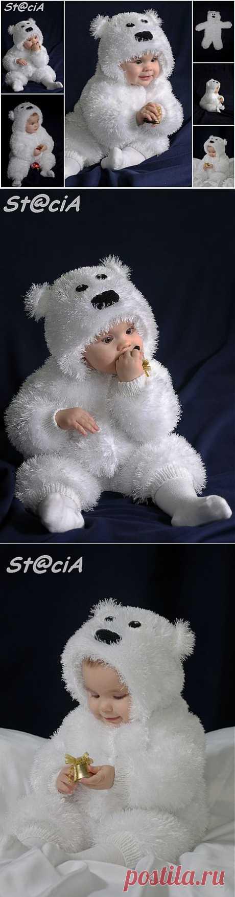 """Вяжем костюмчик для малыша """"Мишка Умка""""."""