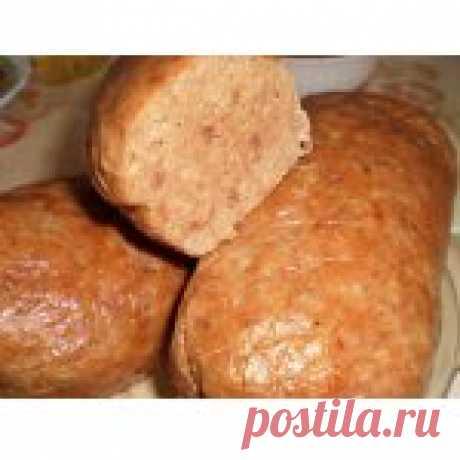 Домашняя печеночно-мясная колбаса Кулинарный рецепт