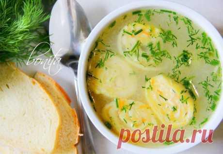 Вкуснейший куриный суп с сырными рулетиками — Фактор Вкуса